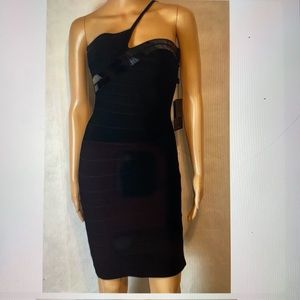 NWT 🔥 Herve Leger Black Bandage Cocktail Dress